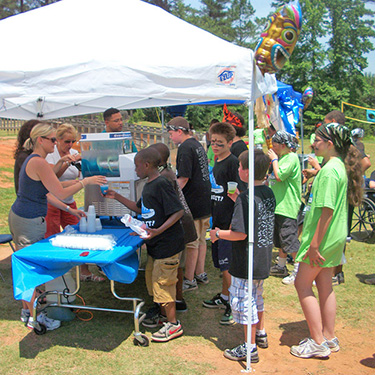 slushies are a hit in schools and at birthday parties for children