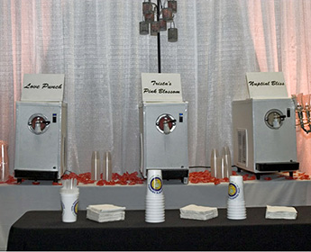 branded frozen drinks for weddings and anniversary party